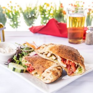 Chicken pesto calzone